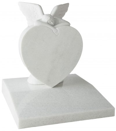 COTSWOLD - Heart with angel memorial - 16164