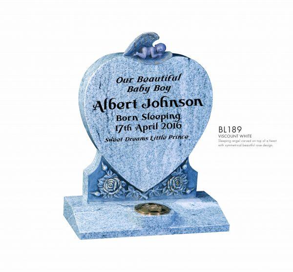 BELLE LAPIDI - Sleeping angel heart memorial - BL189