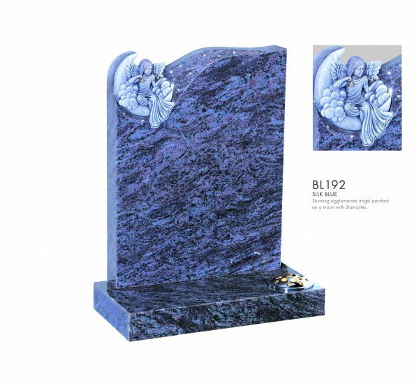 BELLE LAPIDI - Angel on a moon memorial - BL192