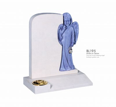 BELLE LAPIDI - Carved weeping angel memorial - BL195