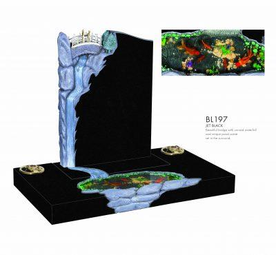 BELLE LAPIDI - Pond scene memorial with surround - BL197