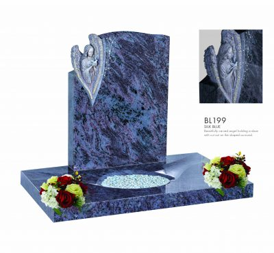 BELLE LAPIDI - Angel holding dove memorial with surround - BL199